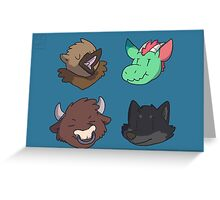 Mythical Heads Greeting Card