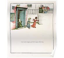 The Pied Piper of Hamlin Robert Browning art Kate Greenaway 0035 Little Hands Clapping Poster
