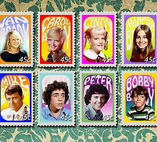 The Brady Bunch stamp set by Erin Dean