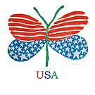 flag butterfly by paintpaintdraw