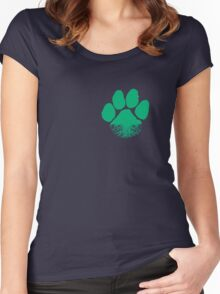 Fauna & Flora -  Earth Lover Green Paw Women's Fitted Scoop T-Shirt