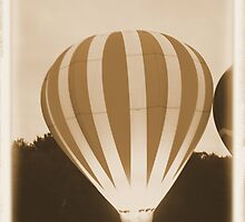 hot air balloons in an old time setting by capturingsmiles