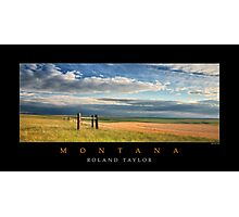 Fields of Montana, ©2010 Roland Taylor Photographic Print