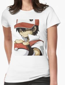Pokemon - Trainer red Womens Fitted T-Shirt