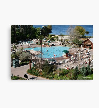 Wilderness Lodge Pool Canvas Print