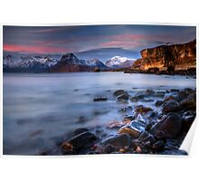 Elgol Sunset, Loch Scavaig, The Isle of Skye., Western Isles, Scotland. Poster