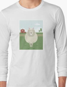 Sheep in a meadow Long Sleeve T-Shirt