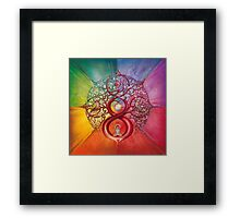 """Heart of Infinity"" - Mandala of Wealth and Balance Framed Print"