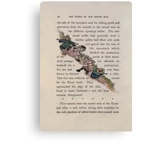 The Queen of Pirate Isle Bret Harte, Edmund Evans, Kate Greenaway 1886 0034 The Hillside Slide Canvas Print