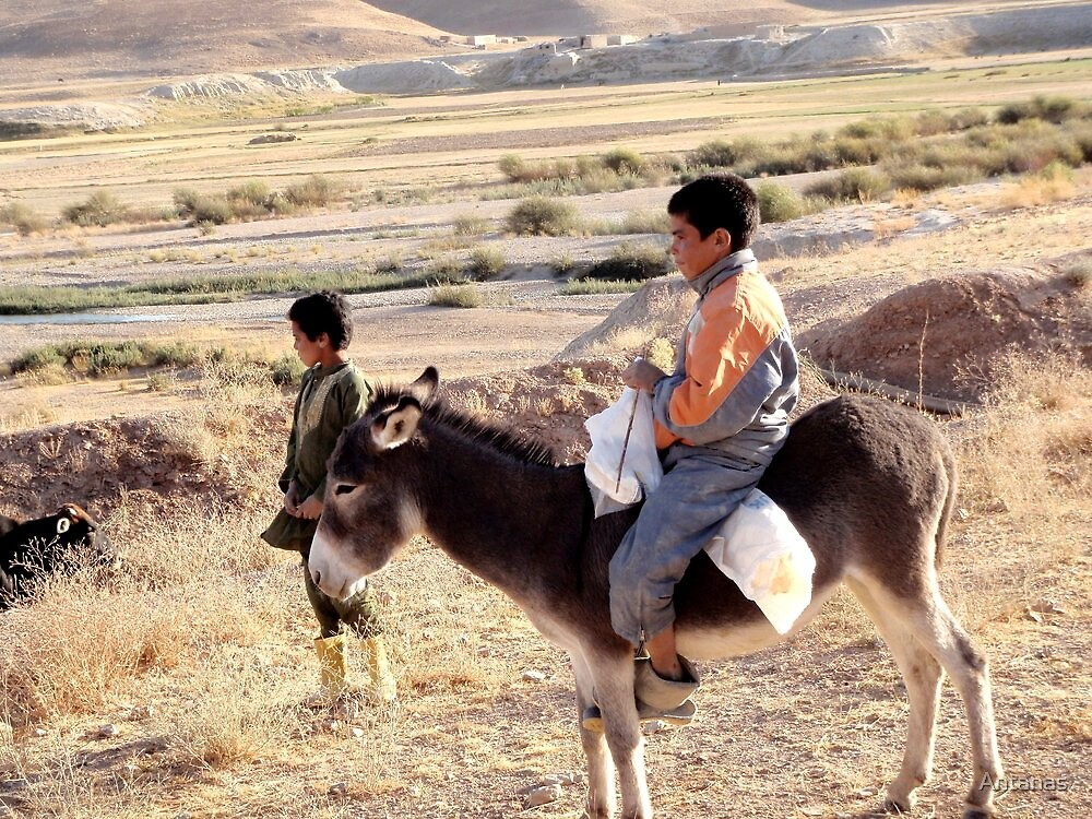 The riders (Afghanistan) by Antanas