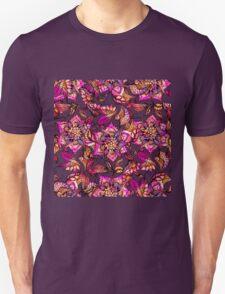 Bright watercolor floral mandala henna hand drawn Unisex T-Shirt