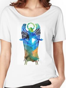 Angel of Light - Spiritual Art Painting Women's Relaxed Fit T-Shirt