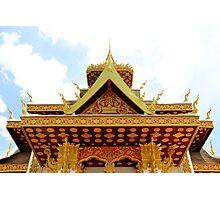 Shiny Wat II - Vientiane, Laos. Photographic Print