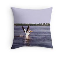 Pelican Pete. Throw Pillow