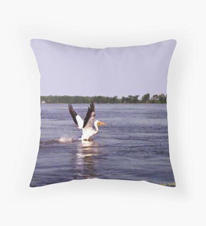 Pelican Pete. Throw Pillow