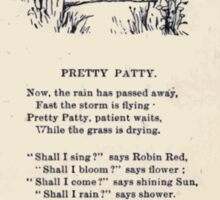 Miniature Under the Window Pictures & Rhymes for Children Kate Greenaway 1880 0039 Pretty Patty Sticker