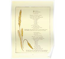 Old Proverbs with New Pictures Lizzie Laweson and Clara Mateaux 1881 0017 Boy and Girl Wheat Poster