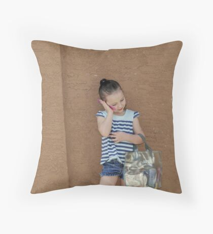 Little Miss Grown Up Throw Pillow