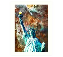 Statue Of Liberty - She Stands by Sharon Cummings Art Print