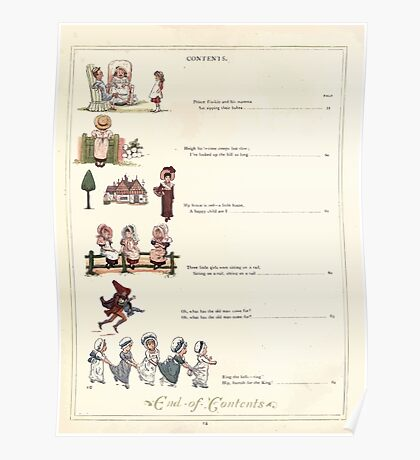 Under the Window Pictures and Rhymes for Children Edmund Evans and Kate Greenaway 1878 0018 Contents Poster