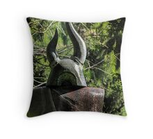 The Warrior - Japanese Gardens Throw Pillow