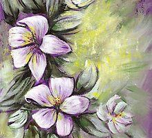 White Lillies by Pamela Plante
