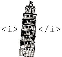 The Leaning Tower of Pisa Italic HTML by abbotsford