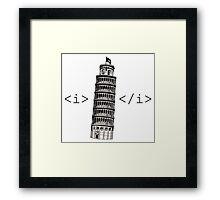 The Leaning Tower of Pisa Italic HTML Framed Print