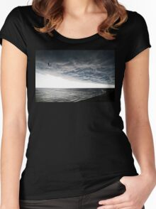 No Fear - Beach Art By Sharon Cummings Women's Fitted Scoop T-Shirt