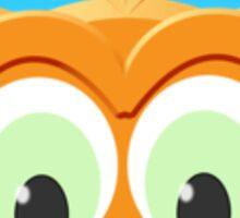 Face Of A Little Owl Sticker