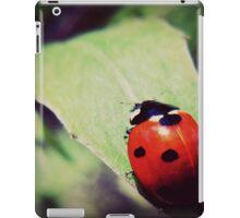 ladybug -  vintage - leaf iPad Case/Skin