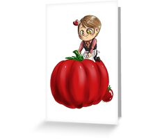Hannibal vegetables - Tomato Greeting Card