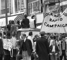 Rock and Roll Radio Campaign march, 1976 Sticker