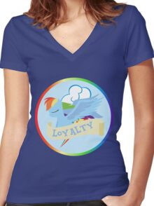 Elements of Harmony - Loyalty Women's Fitted V-Neck T-Shirt