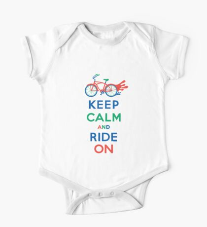 Keep Calm and Ride On - cruiser - primary colors Kids Clothes
