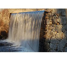 Falling Water at Grafton Pond Photographic Print