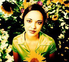 Marisa Ramirez & Sunflowers by YoPedro
