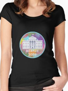Bernie 2016 White House Women's Fitted Scoop T-Shirt