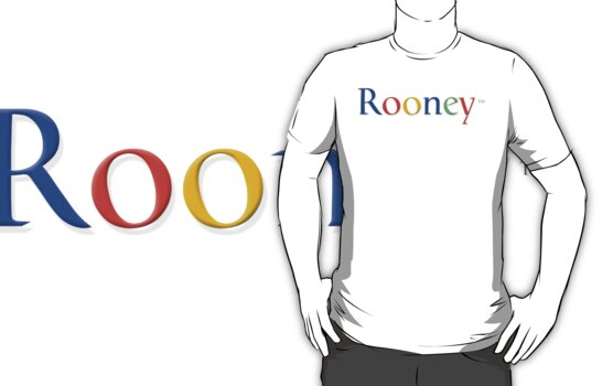 Wayne Rooney Google T-Shirt by onenil