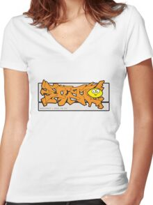 abstract graff Women's Fitted V-Neck T-Shirt