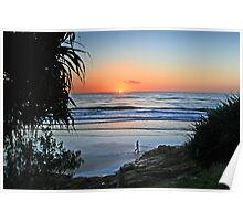 Coolum Beach Sunrise Poster