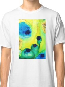 New Life - Green and Blue Art by Sharon Cummings Classic T-Shirt