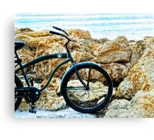 Beach Cruiser - Bicycle Art By Sharon Cummings Canvas Print
