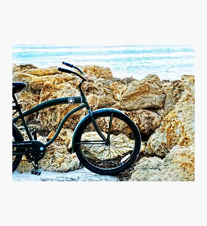 Beach Cruiser - Bicycle Art By Sharon Cummings Photographic Print