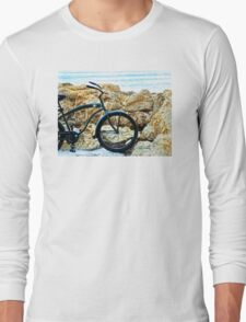 Beach Cruiser - Bicycle Art By Sharon Cummings Long Sleeve T-Shirt