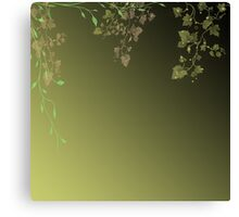 Abstract background of green leaves Canvas Print