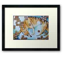 Picking Up The Pieces Framed Print