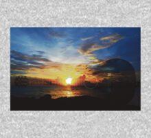 Guitar Sunset - Guitars by Sharon Cummings One Piece - Long Sleeve