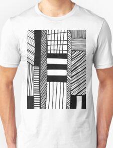 Black & White Sketch Line Unisex T-Shirt