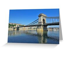 Across The Danube  Greeting Card